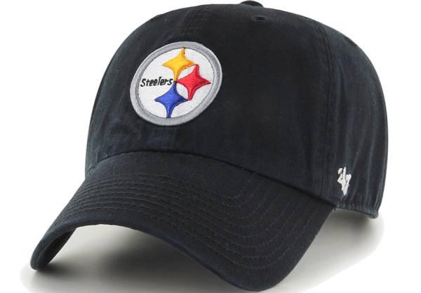 '47 Men's Pittsburgh Steelers Black Clean Up Adjustable Hat product image
