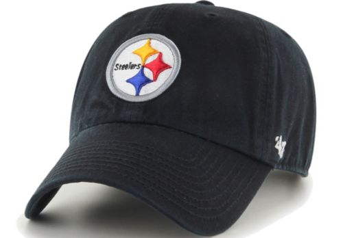the latest 9181f 2bdf2  47 Men s Pittsburgh Steelers Black Clean Up Adjustable Hat 1