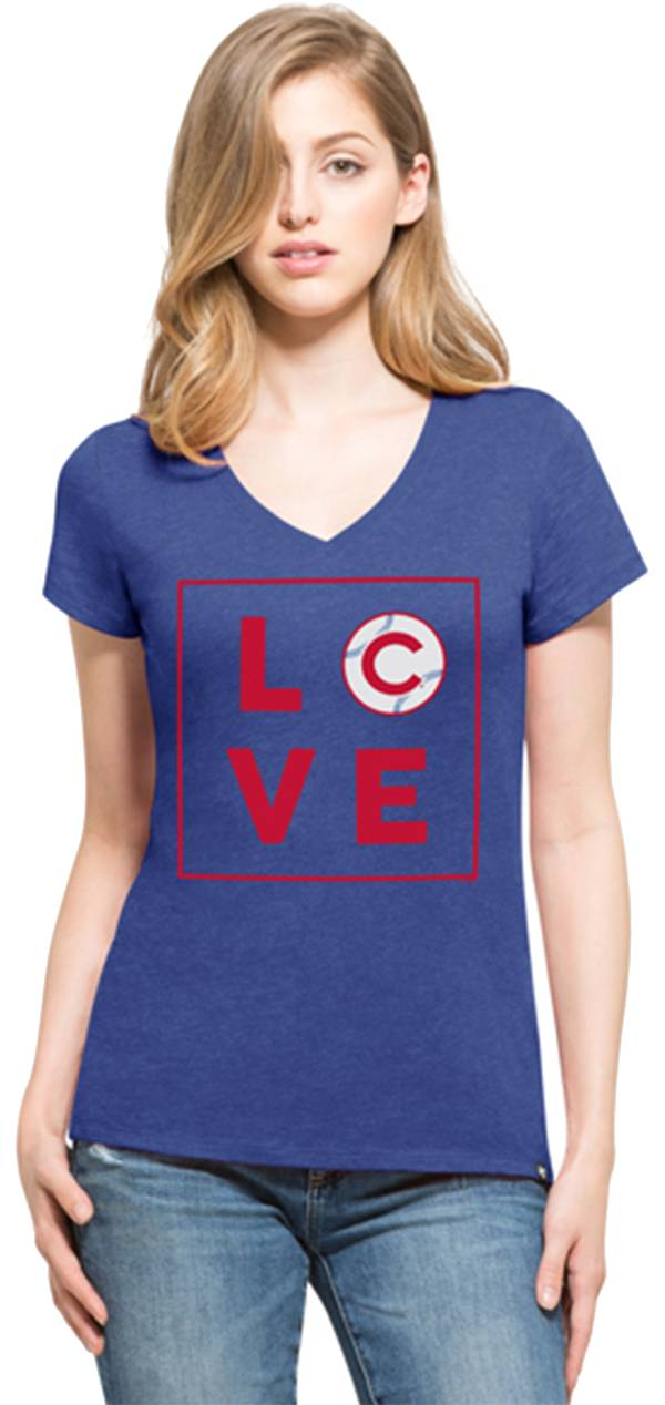 '47 Women's Chicago Cubs Club Royal V-Neck T-Shirt product image