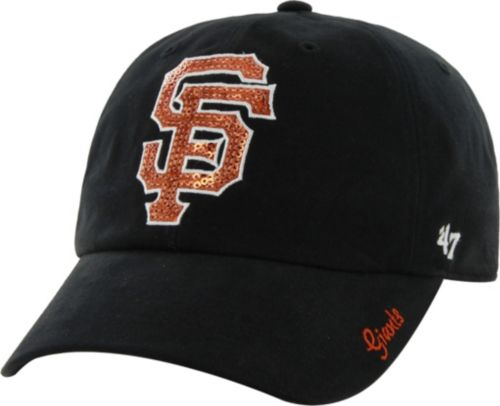 8d1608f80d37f 47 Women s San Francisco Giants Sparkle Black Adjustable Hat ...