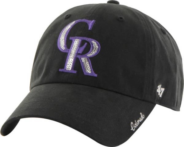 '47 Women's Colorado Rockies Sparkle Black Adjustable Hat product image