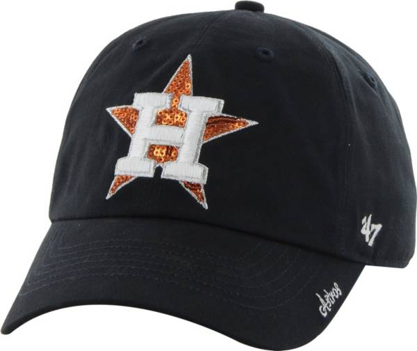 '47 Women's Houston Astros Sparkle Navy Adjustable Hat product image