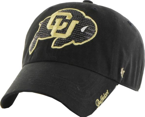 '47 Women's Colorado Buffaloes Black Sparkle Clean-Up Adjustable Hat product image