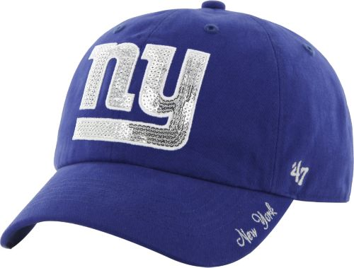 2228742c74f 47 Women s New York Giants Sparkle Logo Blue Adjustable Hat