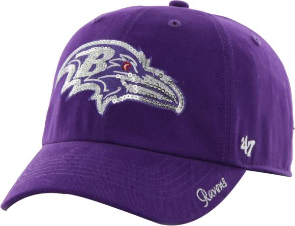 '47 Women's Baltimore Ravens Sparkle Logo Purple Adjustable Hat product image
