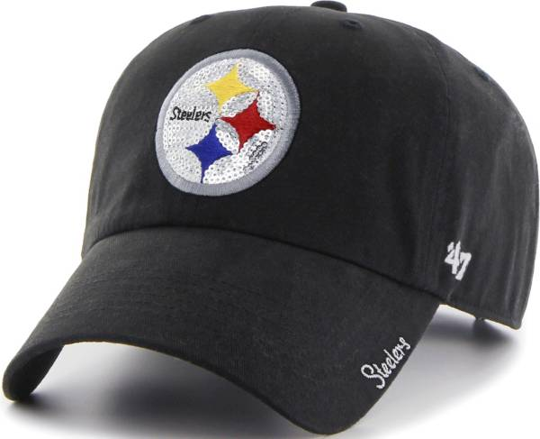 '47 Women's Pittsburgh Steelers Sparkle Logo Black Adjustable Hat product image