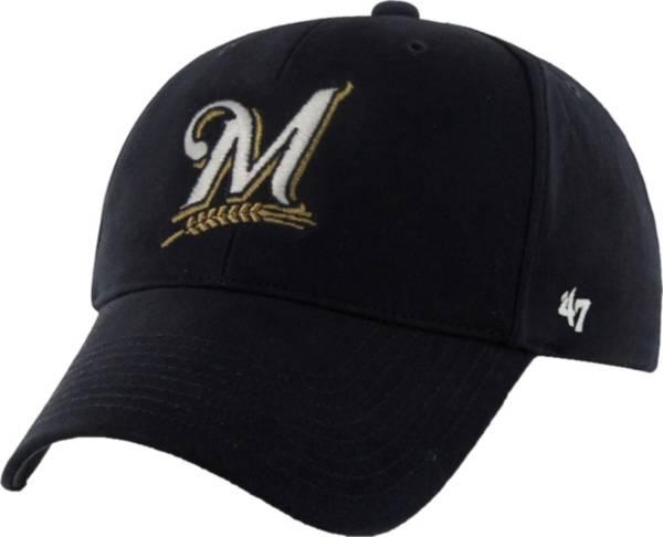 '47 Youth Milwaukee Brewers Basic Navy Adjustable Hat product image