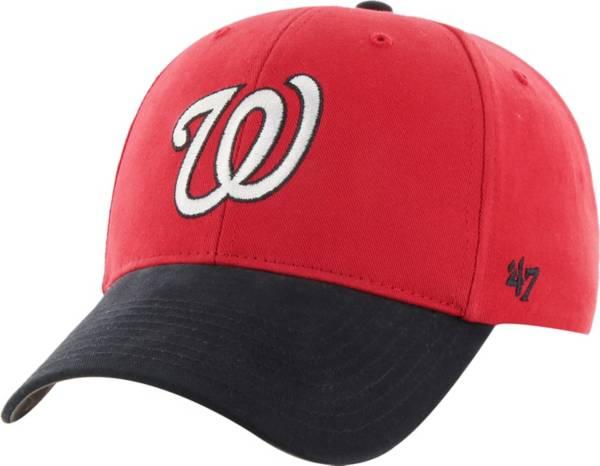 '47 Youth Washington Nationals Short Stack MVP Red/Navy Adjustable Hat product image