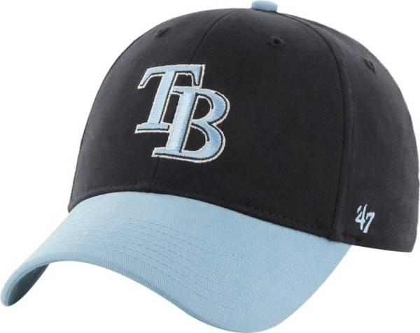 '47 Youth Tampa Bay Rays Short Stack MVP Navy/Light Blue Adjustable Hat product image