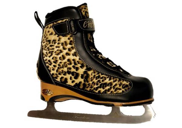 American Athletic Shoe Women's Soft Boot Cheetah Figure Skate product image