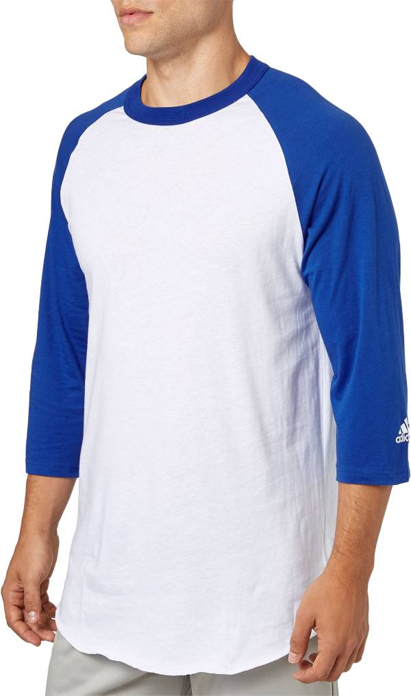 adidas Adult Triple Stripe ¾ Sleeve Baseball Practice Shirt product image