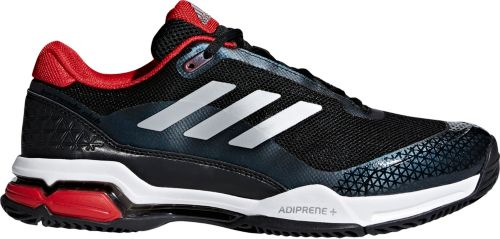 adidas men's barricade club tennis shoes night metallic white black