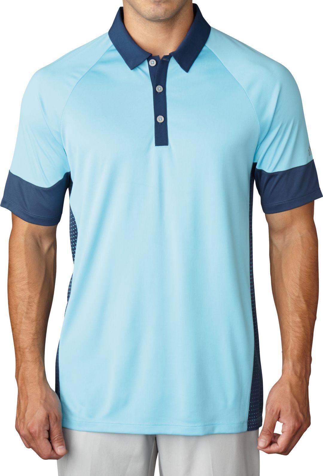 000a98ab9766 adidas Men's climachill® Print Block Golf Polo