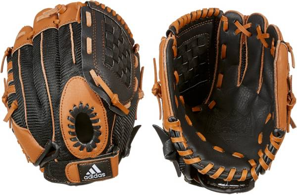 "adidas 9.5"" T-Ball Triple Stripe Glove product image"