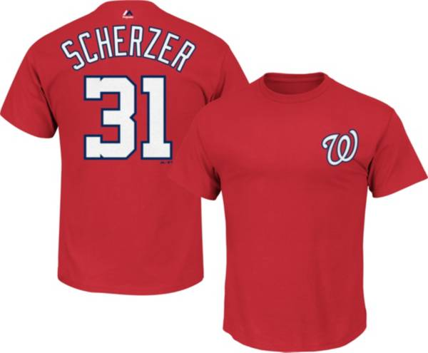 Majestic Youth Washington Nationals Max Scherzer #31 Red T-Shirt product image