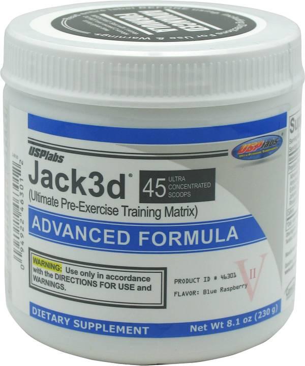 USP Labs Jack3d Pre-Workout Formula Blue Raspberry 45 Servings product image