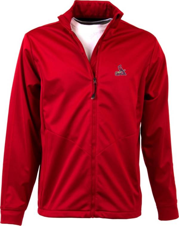 Antigua Men's St. Louis Cardinals Full-Zip Red Golf Jacket product image