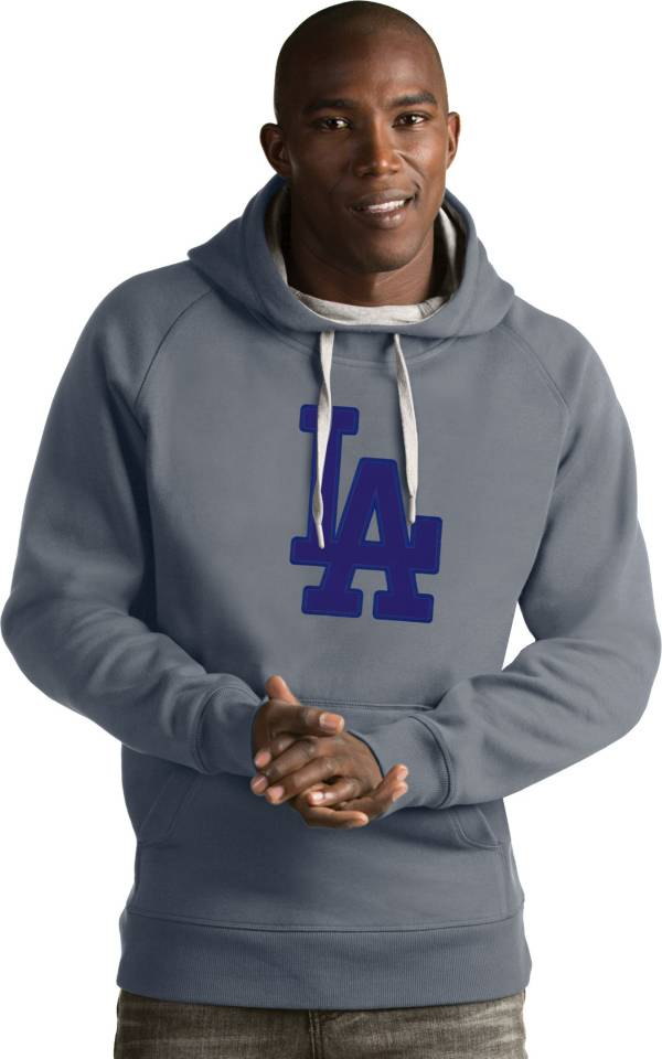 Antigua Men's Los Angeles Dodgers Grey Victory Pullover product image
