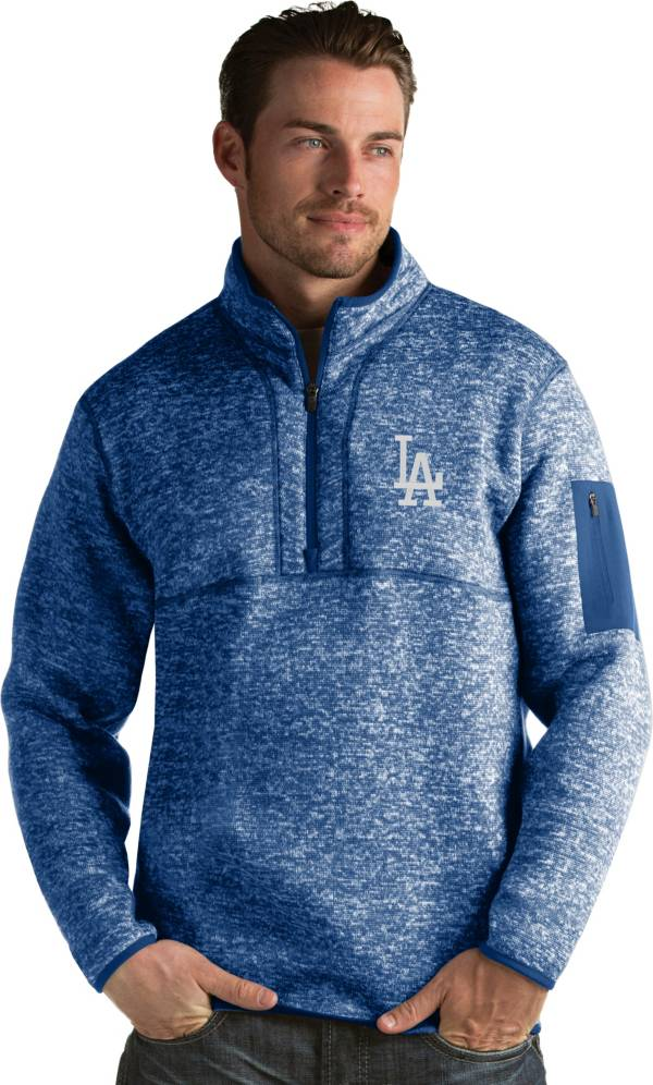 Antigua Men's Los Angeles Dodgers Royal Fortune Half-Zip Pullover product image