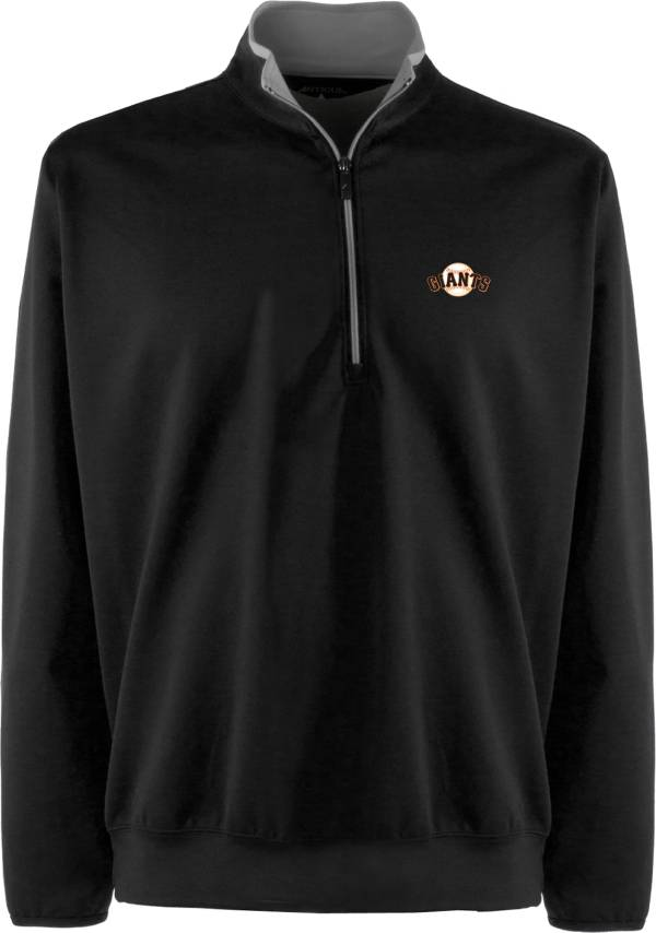 Antigua Men's San Francisco Giants Leader Black Quarter-Zip Pullover product image