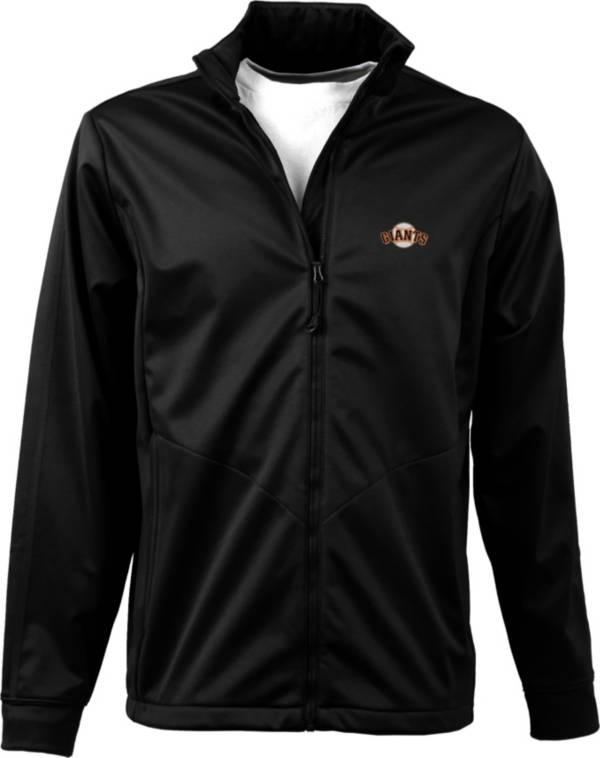 Antigua Men's San Francisco Giants Full-Zip Black Golf Jacket product image