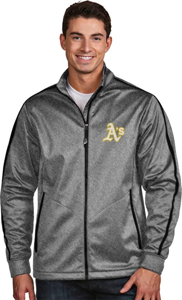 Antigua Men's Oakland Athletics Grey Golf Jacket product image