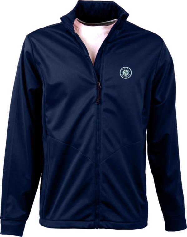 Antigua Men's Seattle Mariners Full-Zip Navy Golf Jacket product image