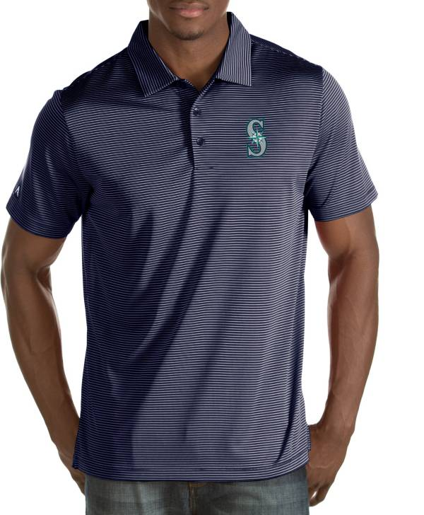 Antigua Men's Seattle Mariners Quest Navy Performance Polo product image