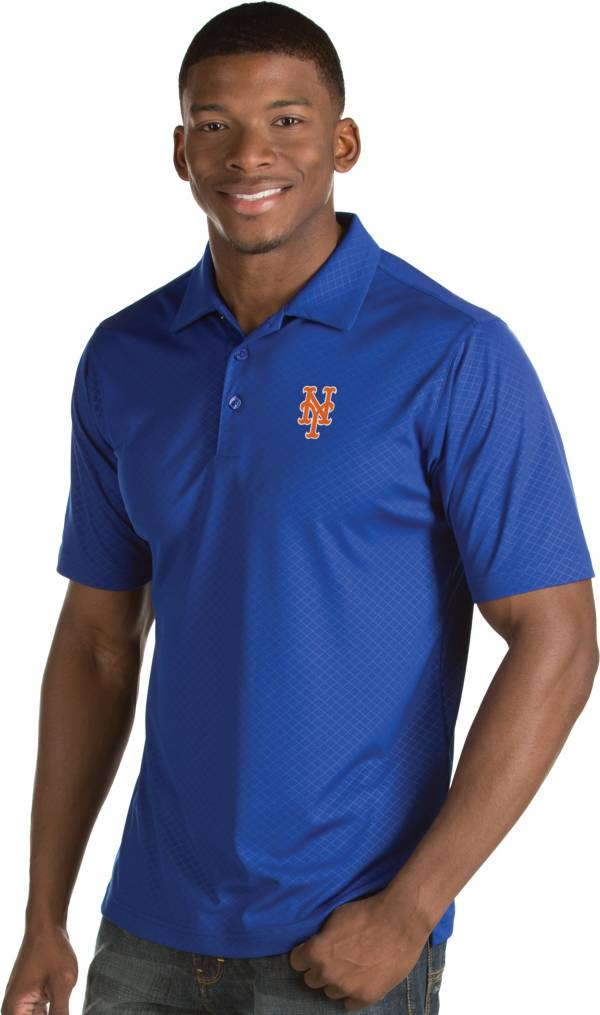 Antigua Men's New York Mets Royal Inspire Performance Polo product image