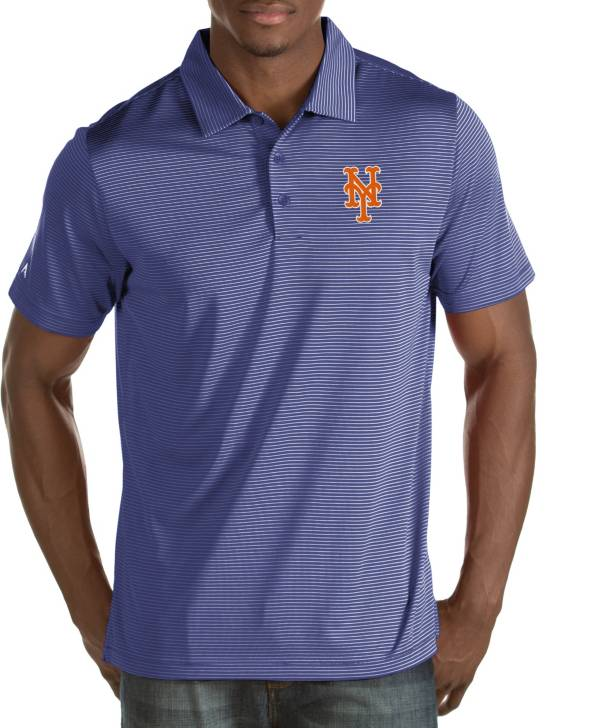 Antigua Men's New York Mets Quest Royal Performance Polo product image