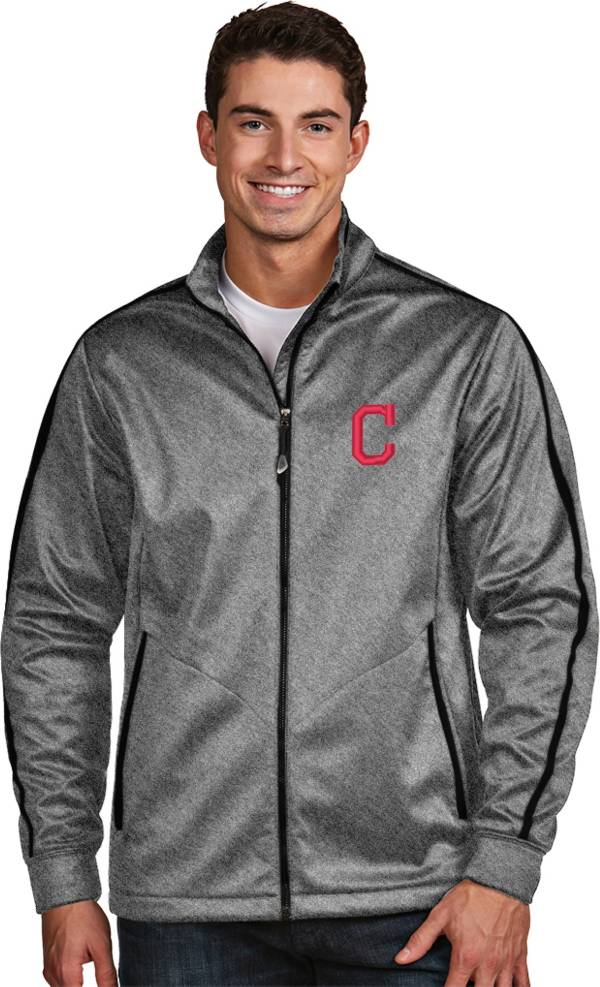 Antigua Men's Cleveland Indians Grey Golf Jacket product image