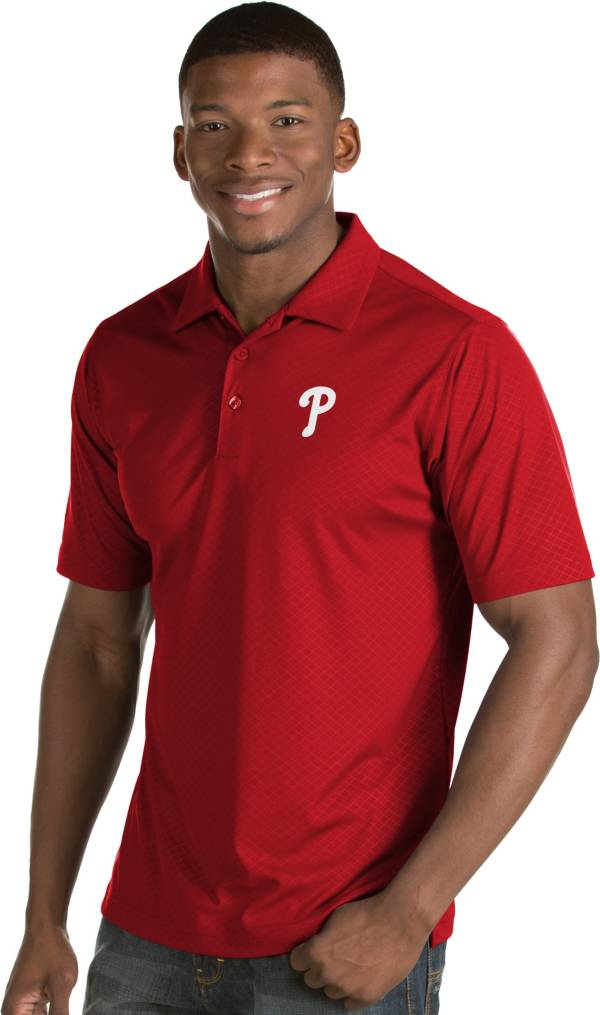 Antigua Men's Philadelphia Phillies Red Inspire Performance Polo product image