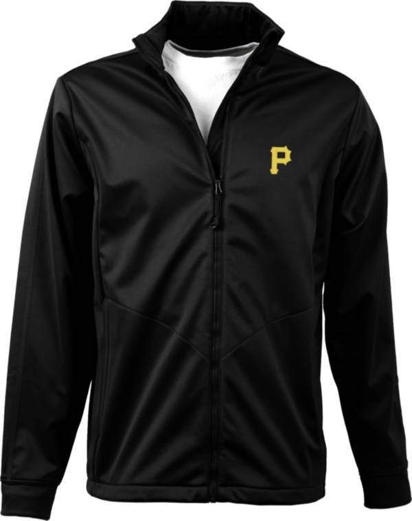 Antigua Men's Pittsburgh Pirates Full-Zip Black Golf Jacket product image