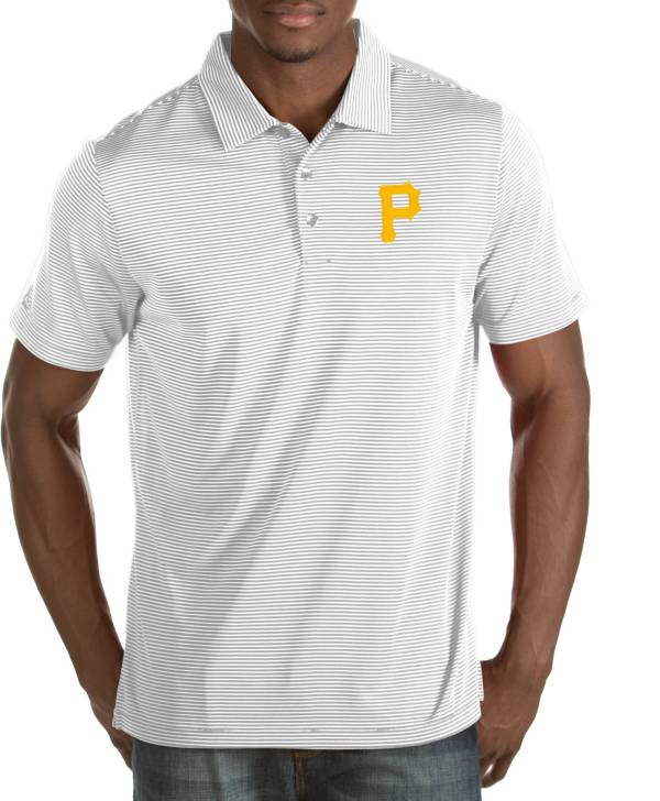 Antigua Men's Pittsburgh Pirates Quest White Performance Polo product image
