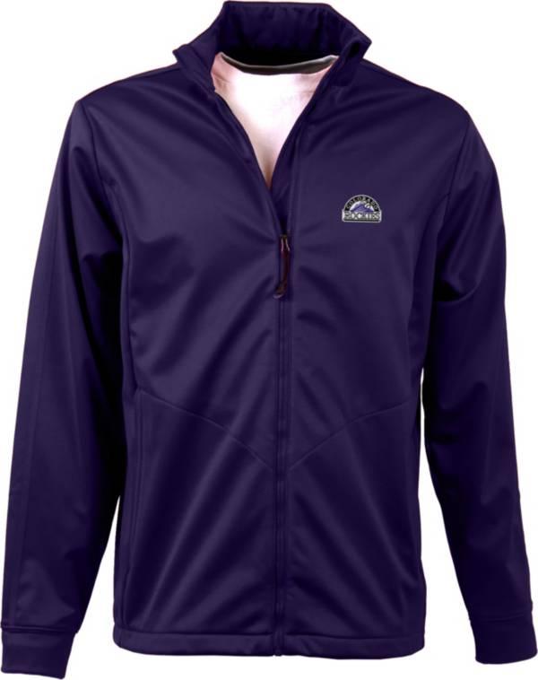Antigua Men's Colorado Rockies Full-Zip Purple Golf Jacket product image