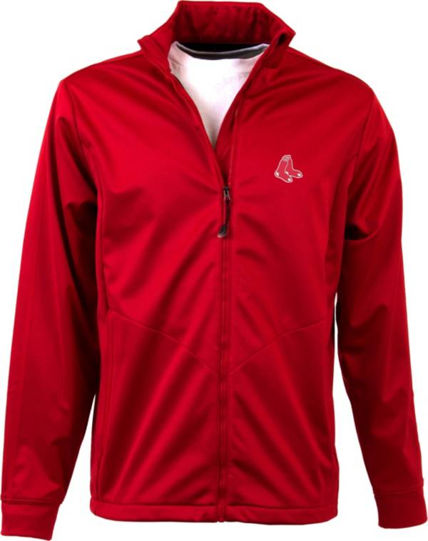 Antigua Men's Boston Red Sox Full-Zip Red Golf Jacket product image
