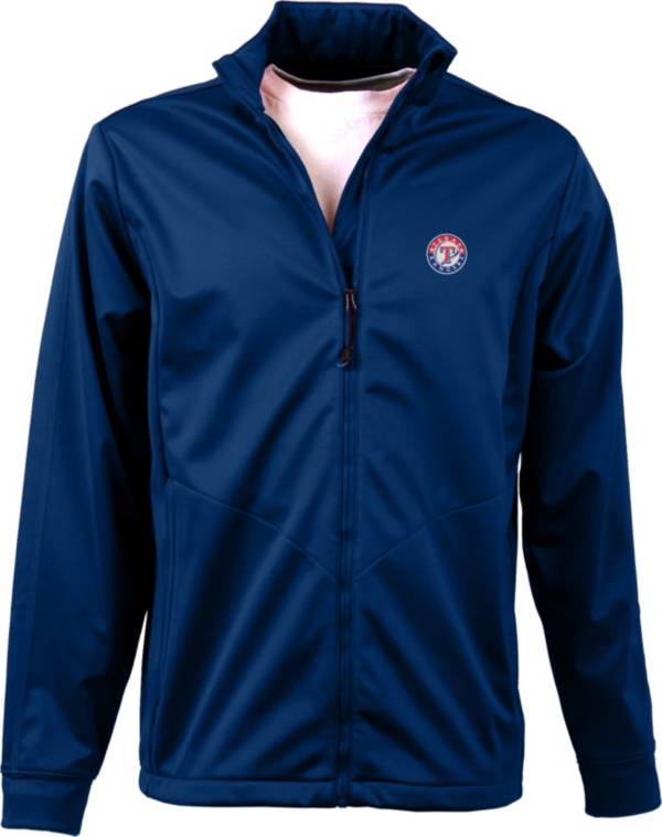 Antigua Men's Texas Rangers Full-Zip Royal Golf Jacket product image