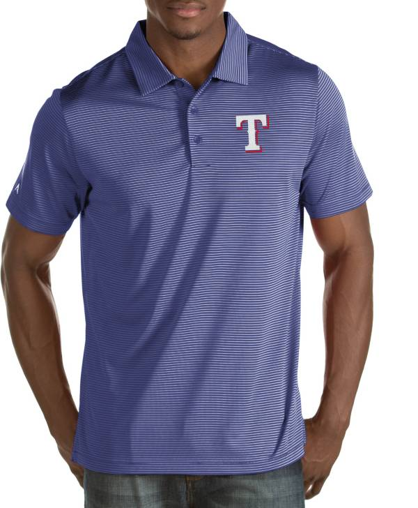 Antigua Men's Texas Rangers Quest Royal Performance Polo product image