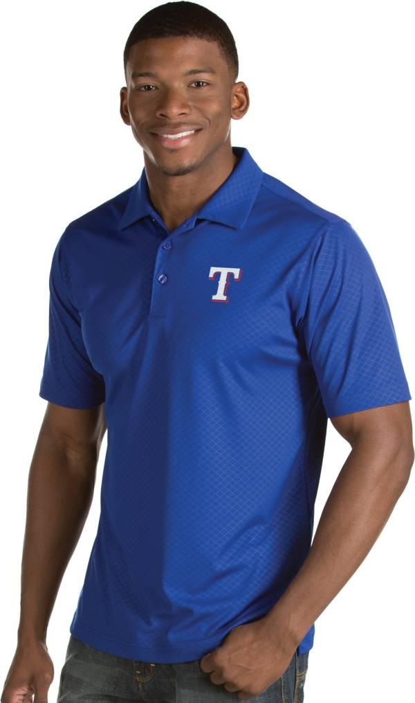 Antigua Men's Texas Rangers Royal Inspire Performance Polo product image