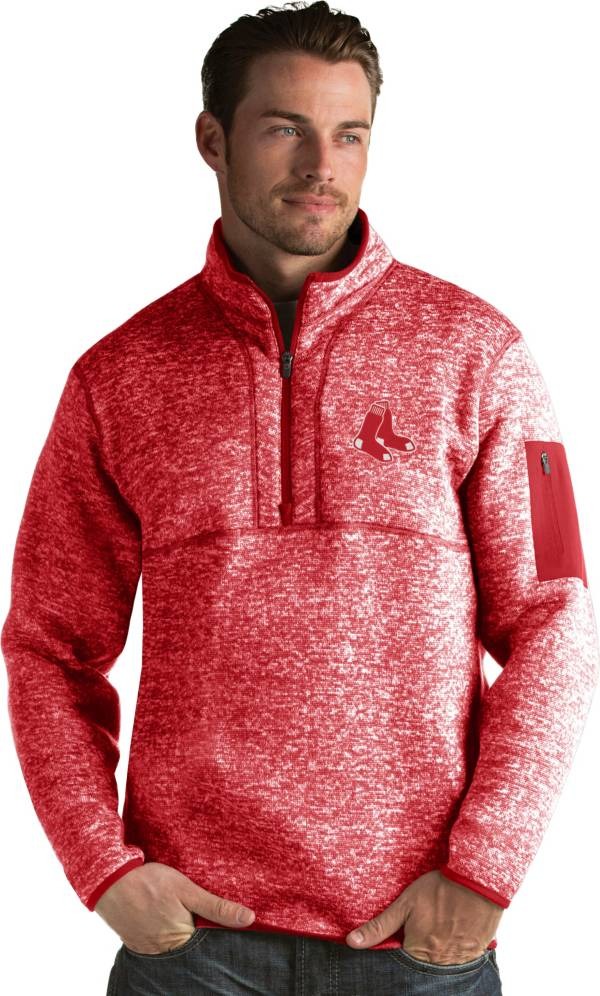 Antigua Men's Boston Red Sox Red Fortune Half-Zip Pullover product image
