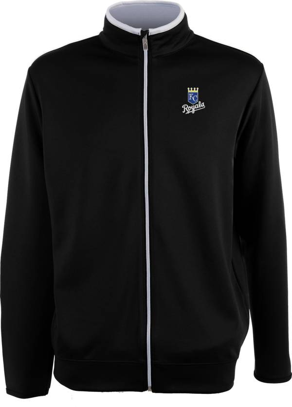 Antigua Men's Kansas City Royals Leader Black Full-Zip Jacket product image