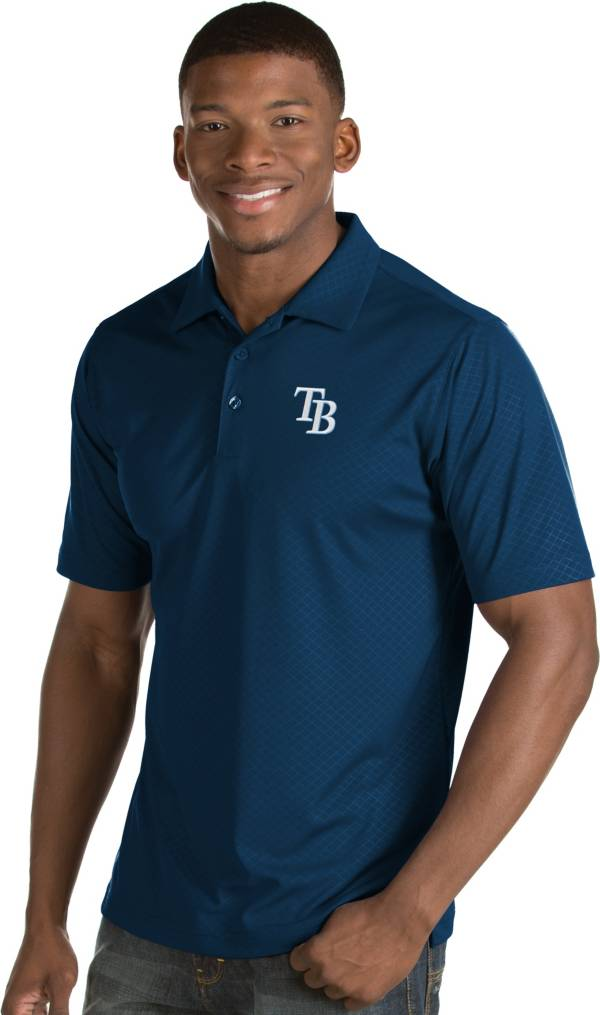 Antigua Men's Tampa Bay Rays Navy Inspire Performance Polo product image