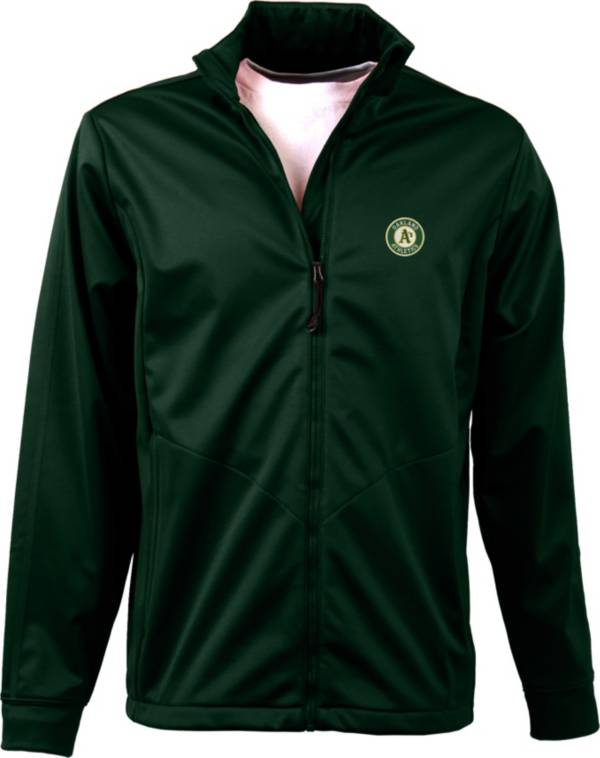Antigua Men's Oakland Athletics Full-Zip Green Golf Jacket product image