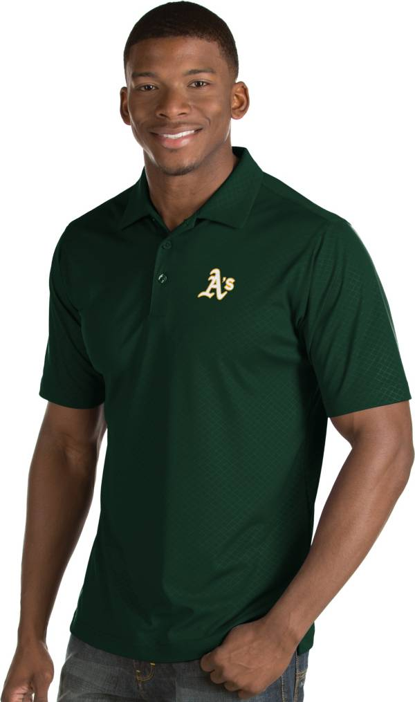 Antigua Men's Oakland Athletics Green Inspire Performance Polo product image