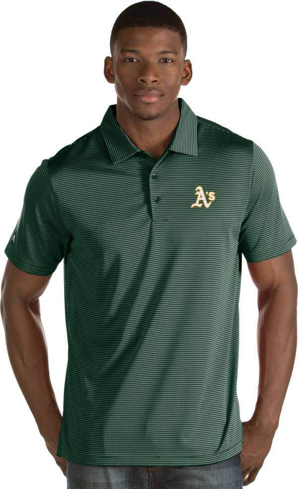Antigua Men's Oakland Athletics Green Quest Performance Polo product image