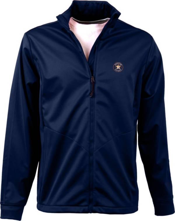 Antigua Men's Houston Astros Full-Zip Navy Golf Jacket product image