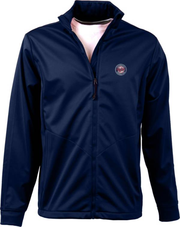 Antigua Men's Minnesota Twins Full-Zip Navy Golf Jacket product image