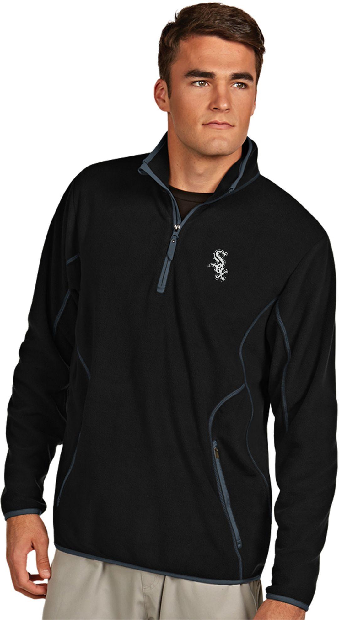 reputable site a5473 1fa8a Antigua Men's Chicago White Sox Quarter-Zip Black Ice Pullover
