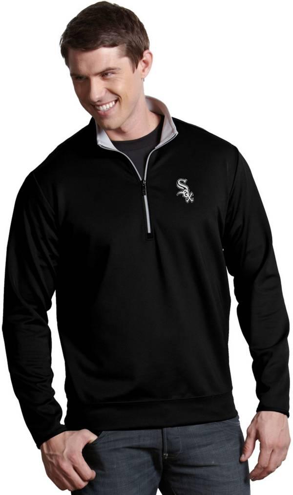 Antigua Men's Chicago White Sox Leader Black Quarter-Zip Pullover product image