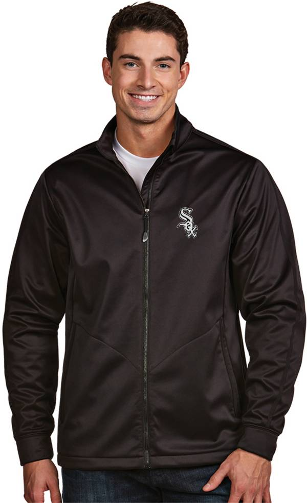 Antigua Men's Chicago White Sox Full-Zip Black Golf Jacket product image